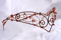 handmade copper and bronze colour wire circlet