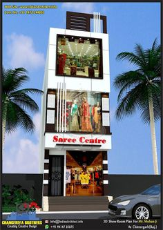 Commercial Building Plans, Fashion Shop Interior, Modern Architectural Styles, Narrow House Designs, Showroom Interior Design, Front Elevation Designs, Building Elevation, House Front Design, Retail Store Design