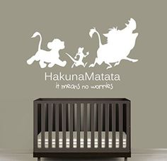 Wall Decal Vinyl Sticker Decals Art Decor Design Sign Quote Hakuna Matata Timon Pumba Kids Lion King Bedroom Dorm Nursery -- Check out the image by visiting the link. Lion King Room, Lion King Nursery, Lion King Theme, Lion King Baby, Lucas Nursery, Baby Room Themes, Baby Boy Rooms, Baby Boy Nurseries, Nursery Themes