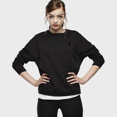 G-Star RAW | Femmes | Raw-for-the-oceans | Raw For The Oceans - Cropped Boyfriend Sweatshirt