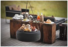 Overlooking a seasonal lagoon, the earthy glamour of this striking Botswana safari lodge provides a perfect counterpoint to the natural bounty of the riverside. Okavango Delta, African Safari, Africa Travel, High Tea, The Incredibles, Table Decorations, Luxury, Wine Drinks, Food Ideas