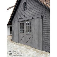 Carriage House Garage Doors ~ Sliding Barn Doors ~ Grey