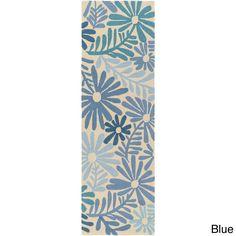 Hand-hooked Charlie Polypropylene Rug (2'6 x 8') (