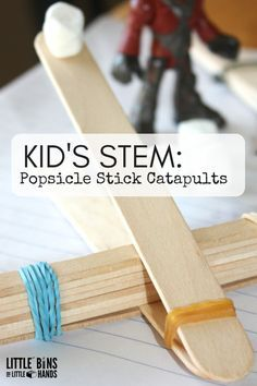 Popsicle Stick Catapults for Kids STEM Activities