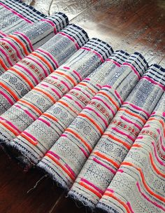 SALE Vintage Hmong Fabric Handmade Boho Batik by KutchiKooTribe