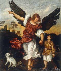 Tizian - Tobias und der Engel (60,0 x 70,0 cm)