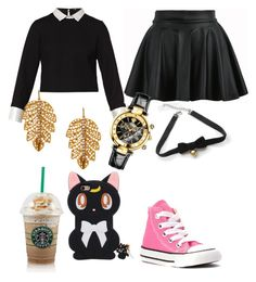 """""""Hacked by Amanda❤️"""" by carogamer ❤ liked on Polyvore featuring Maje, Converse, Marika, Versace and COS"""