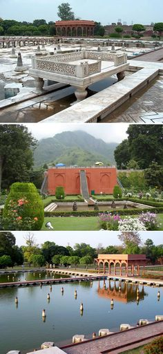 Shalimar Garden – PAKISTAN. The Shalimar Garden is a Persian garden and it was built by the Mughal emperor Shah Jahan in Lahore, modern day Pakistan. Construction began in 1641 A.D. (1051 A.H.) and was completed the following year.