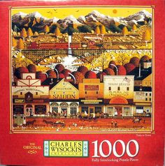 """""""Train to Town"""" ~ a 1000 piece jigsaw puzzle ~ Charles Wysocki"""