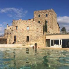 Montalcino e suas águas termais-vista do castelo com a sister Themis Eloana