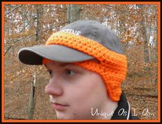 I designed this so that my son could wear his ball cap in the winter and still keep his ears warm. He really doesn't like wearing hats I make from yarn because he says it makes his head itchy. This seemed to be perfect for him. I figured there are others out there the same way.