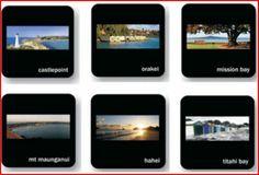 Moana RD - coasters scenic Mission Bay, Moana, Tabletop, Coasters, Art, Art Background, Table, Coaster, Kunst