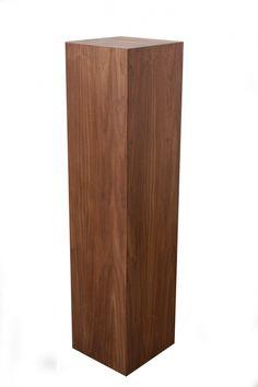 Afbeeldingsresultaat voor notenhout plantenzuil