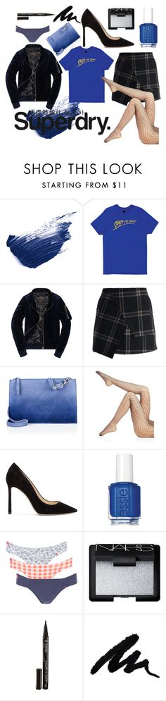"""The Cover Up – Jackets by Superdry: Contest Entry"" by tuvaodberg ❤ liked on Polyvore featuring By Terry, HUF, Chicwish, Superdry, Wolford, Jimmy Choo, Essie, NARS Cosmetics and Smith & Cult"
