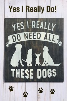 """12"""" x 12"""" wood sign. Perfect for the dog lover in your life.  Dog Decor, Dog Gift, Dog Lover #affiliate"""