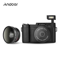 "Andoer R1 1080P 15fps Full HD 24MP Digital Camera Cam 3.0"" Rotatable LCD Screen Video Camcorder Anti-shake 4X w/ UV Filter"