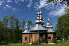 Drewniane cerkwie Bieszczad wpisane na listę UNESCO / Wooden tserkvas of the… Byzantine, Czech Republic, Homeland, Hungary, Gazebo, National Parks, Outdoor Structures, Cabin, Explore