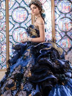 "tullediaries: "" "" Princess Royal Ball Gowns with a touch of Glam―Stella de Libero If you want to look and feel like a stylish princess on your special day, a classic royal ball gown with a touch of. Navy Ball Dresses, Prom Dresses, Wedding Dresses, Gown Wedding, Pretty Outfits, Pretty Dresses, Royal Ball Gowns, Barbie Mode, Fairytale Gown"