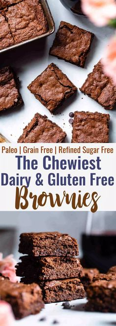 gluten free dairy free dessert Easy Gluten Free Dairy Free Brownies -These grain free, healthy browniescome together in less than an hour and are SO dense, chewy and FUDGY! Paleo friendly, gluten and dairy free and SO delicious! Dairy Free Bread, Dairy Free Snacks, Dairy Free Breakfasts, Gluten Free Sweets, Gluten Free Baking, Gluten And Dairy Free Desserts Easy, Gluten Free Dairy Free Desserts, Healthy Gluten Free Snacks, Gluten Free Grains
