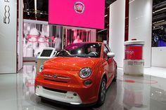 #Fiat #500e at 65th International Motor Show IAA 2013 in Frankfurt