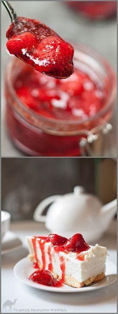 Frużelina truskawkowa na zimę bez żelatyny jest doskonałym dodatkiem do wszelkiego rodzaju deserów - lodów, serników, panna cotty, naleśników., Frużelina truskawkowa na zimę, dodatki do deserów, dodstki do lodów, owoce w żelu do sernika i lodów, frużelina truskawkowa do tortu, tort z frużeliną, ciasto z frużeliną, frużelina jak zrobić, owoce w żelu do deserów i tortów, owoce kandyzowane, frużelina bez żelatyny