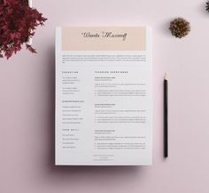 Cv Resume Resume Template  Cv Template  02 Creativework247  Teacher Resume .