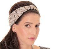 Grau Kopftuch Bandana mit Blumenprint