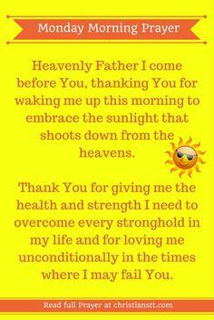 Monday Morning Prayer Pin