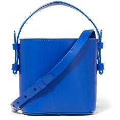 Nico GianiAdenia Mini Leather Bucket Bag (72.120 HUF) via Polyvore featuring bags, handbags and shoulder bags