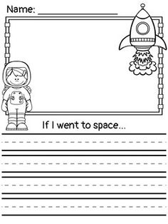 Perfect no prep writing activity for kindergarten first or second grades. Includes 4 different prompts with boy and girl astronaut options. If I went to the moon. If I went to space. If I met an alien. Space Preschool, Space Activities, Writing Activities, Teaching Resources, Moon Activities, Writing Centers, 1st Grade Writing, Kindergarten Writing, Kindergarten Activities