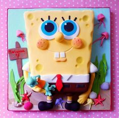Spongebob cake Cake by BellasBakery
