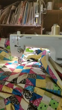 Quilting, day one.