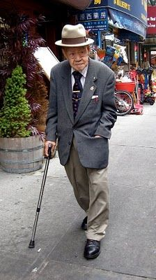 """Cool old people...they """"dress"""" for their day..."""