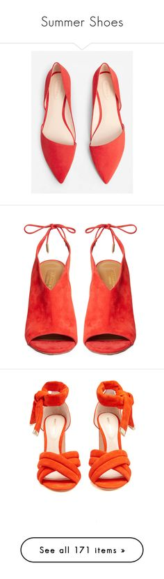 """Summer Shoes"" by doga1 ❤ liked on Polyvore featuring shoes, flats, flat pointy toe shoes, pointy toe flats, pointy-toe flats, flat pointed-toe shoes, asymmetric shoes, sandals, heels and suede shoes"