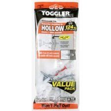 """Mechanical Plastics Corp 45200 TA Hollow Wall Anchors 1/8""""-1/4"""" Pk/20 by Mechanical Plastics. $11.79. Toggler, 20 Pack, 1/8""""-1/4"""", TA Hollow Wall Anchors With Screw, Patented Mechanism Provides Secure Holding Power For Light & Medium Loads, Key Activated Locking Action Makes The Anchor A Rigid, Weight Distributing Truss In Hollow Walls, Providing Maximum Security In The Smallest Possible Hole, Can Be Used In Drywall Or Plaster Walls & In Hollow Doors Or Thin Panels, ..."""
