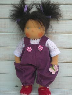 Handmade Organic Waldorf Doll - Dorothy I love the wild hair on this little girl!  Have to make it!