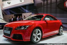 I'll slap a #FCBayern sticker on the back. #Audi ♥ ::: Red TT...will be cruising around in one of these soon :)