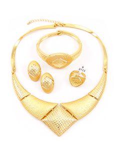 SeePretty 18kGold Plated Earrings Fashion Jewelry SetsBeauty