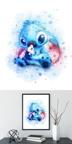 Stich (Lilo und Stich) digital Aquarell Kunstdruck Disney druckbare Aquarell Illustrationen K. : Stich (Lilo und Stich) digital Aquarell Kunstdruck Disney druckbare Aquarell Illustrationen K. Disney Stitch, Lilo Ve Stitch, Lilo And Stitch Tattoo, Lilo And Stitch Drawings, Art Disney, Disney Kunst, Cute Disney Drawings, Cute Drawings, Art And Illustration