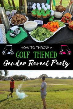 Throwing a Golf Themed Gender Reveal Party – ahintofgarlic.com -  Baby Shower, Birthday Party, Daddy's Little Caddy party! Inexpensive ways to make your next party amazing!