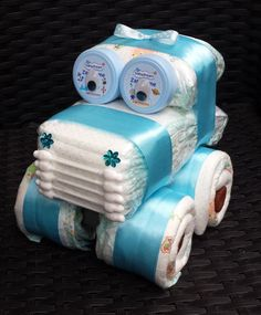 Diaper Cake Diaper Car Diaper Car Pampers Baby Birth Baptism Baby Shower Boy in Baby Baptism Gifts Fiesta Baby Shower, Baby Shower Fun, Baby Shower Parties, Baby Shower Crafts, Baby Crafts, Baby Shawer, Baby Birth, Bricolage Baby Shower, Baby Shower Garcon