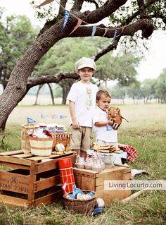 Boys vintage baseball photo shoot
