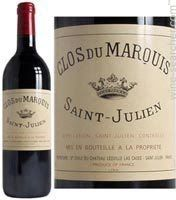 Chateau Leoville-Las Cases 2012 'Clos du Marquis', Saint-Julien, France label. This wine was fabulous. Fruit flavours of red luscious berries were in total balance with the tannin, acidity and alcohol.  Bordeaux blend of grapes. Love!