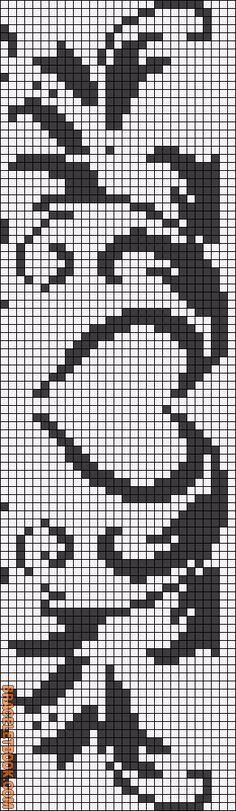 Rotated Alpha Pattern added by animechild Bead Loom Patterns, Perler Patterns, Weaving Patterns, Cross Stitch Patterns, Cross Stitch Bookmarks, Cross Stitch Heart, Crochet Cross, Filet Crochet, Cross Stitching