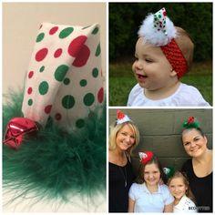 santa hat, family Christmas photo prop, santa hat headband, funny santa hat, Christmas hair accessory, Christmas hair clip, holiday headband by Bedotted on Etsy