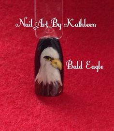 Bald Eagle, Memorial Day, Patriotic Nail Art