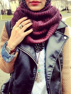 Warm colours and great layering for the autumn time