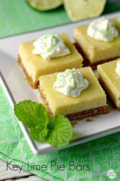 These Key Lime Pie Bars are the perfect summer treat!