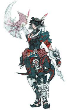 Warrior & Brutal Armor from Final Fantasy XIV: Stormblood #illustration #artwork #gaming #videogames