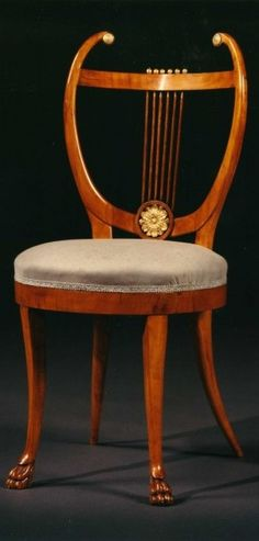 English  SET OF SIX LYRE BACK CHAIRS  early 1800s